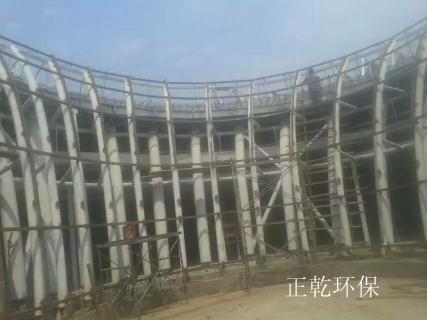 济宁汶上文化馆建筑喷锌